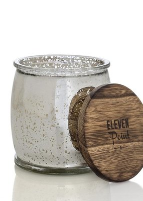 Eleven Point Silver Birch Mercury Barrel Candle in Silver