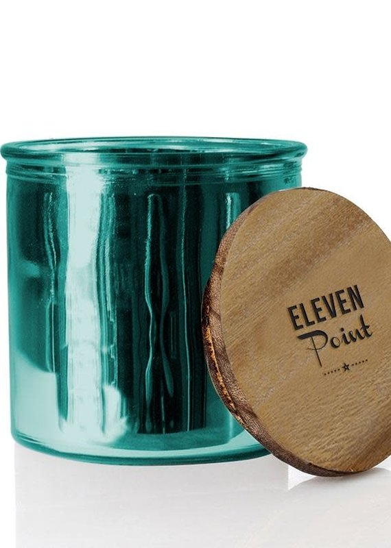 Eleven Point Compass Rock Star Candle in Turquoise