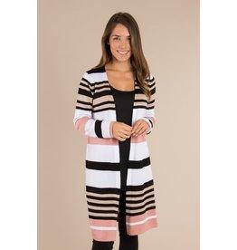 Simply Noelle Striped Cardigan