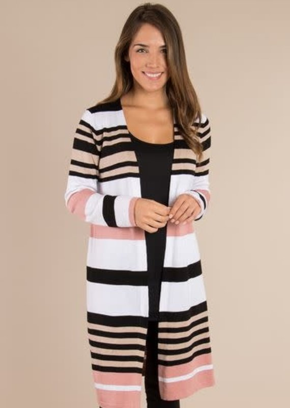 Simply Noelle Striped Cardigan