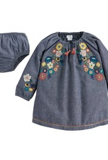 Mud Pie Chambray Embroidery Dress-6/9M