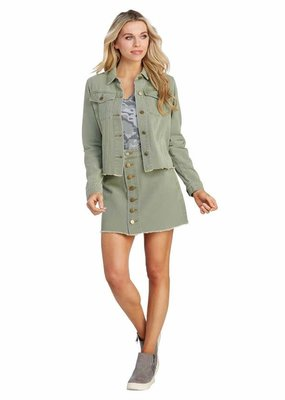 Mud Pie Colton Sage Green Denim Jacket