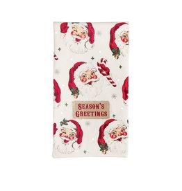 Mud Pie Season's Greetings Santa Hand Towel
