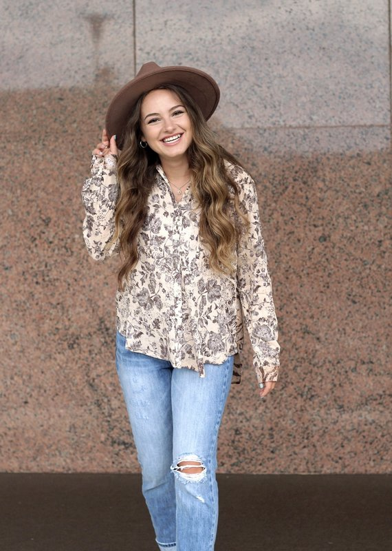 Mystree Inc. Taupe Mix Top