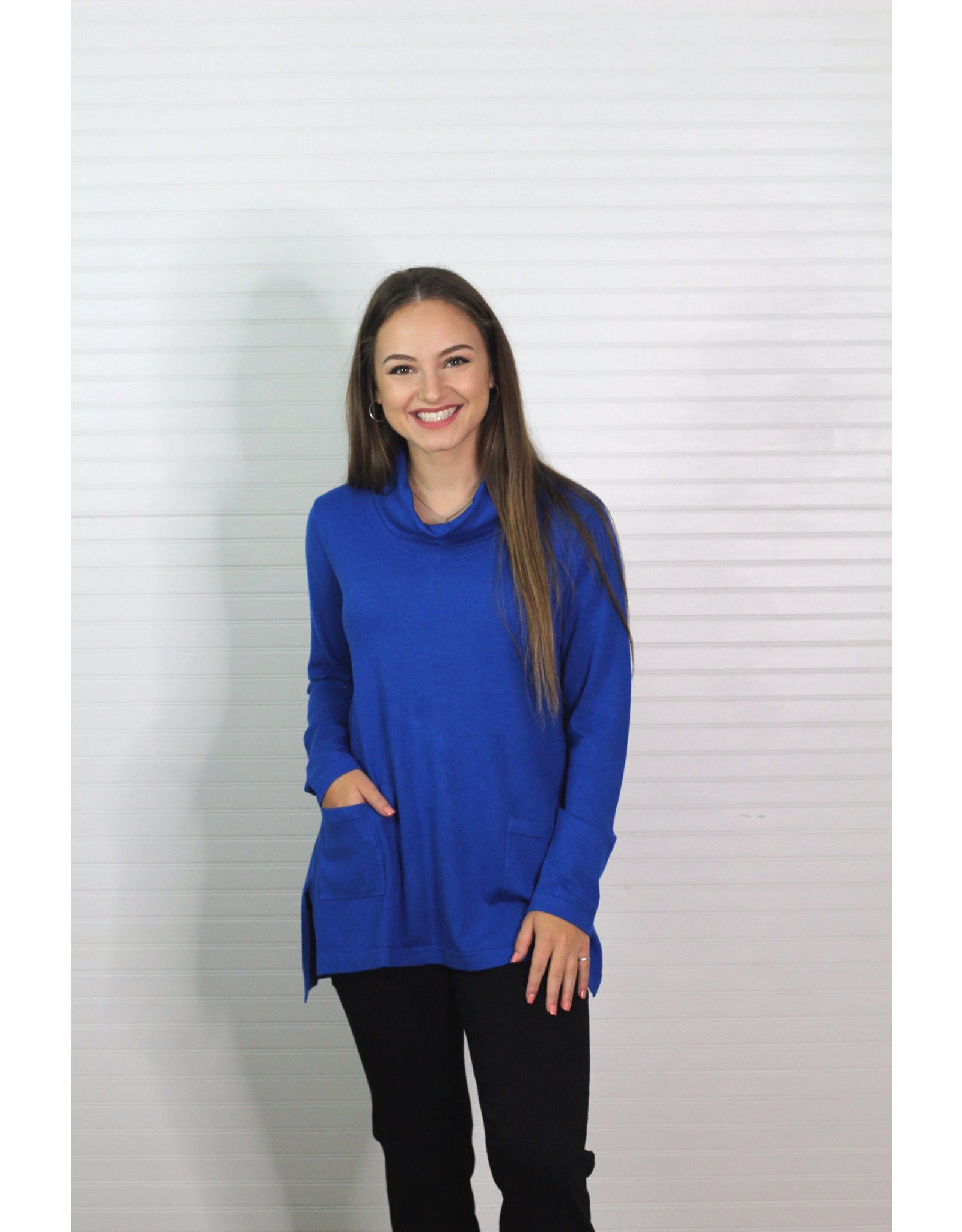 Multiples Cowl Collar Side Button Poncho