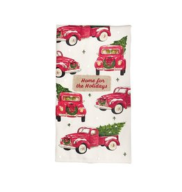 Mud Pie Home For The Holidays Truck Hand Towel