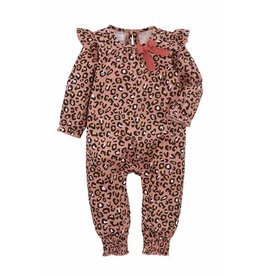 Mud Pie Pink Leopard Print Body Suit
