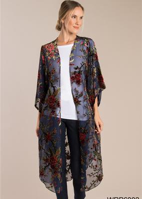 Simply Noelle Velvet Floral Kimono