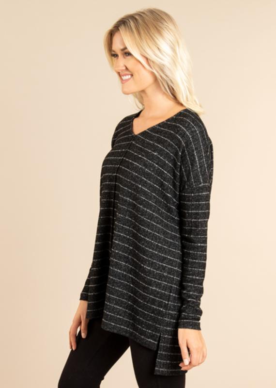 Simply Noelle Heathered Stripe Top