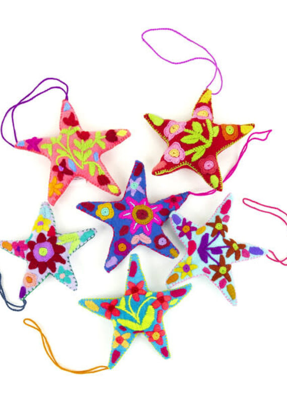 Nativa Star Embroidered Ornament