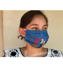 Nativa Denim Embroidered Face Mask