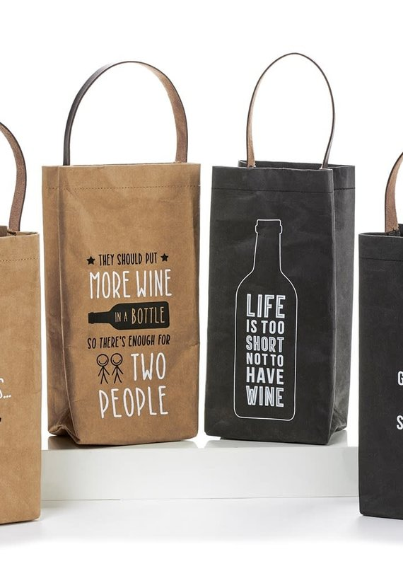 GiftCraft Inc. Paper Wine Bottle Bags
