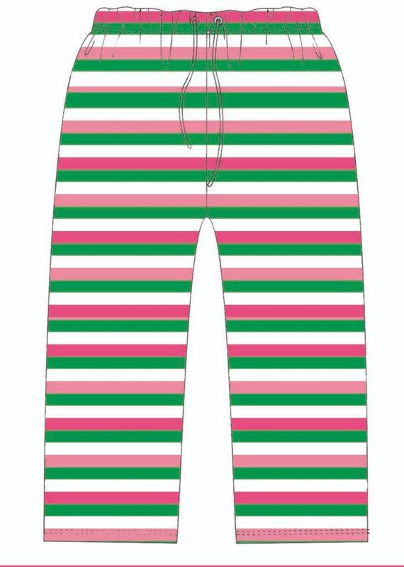 Jane Marie Pink & Green Striped Pajama