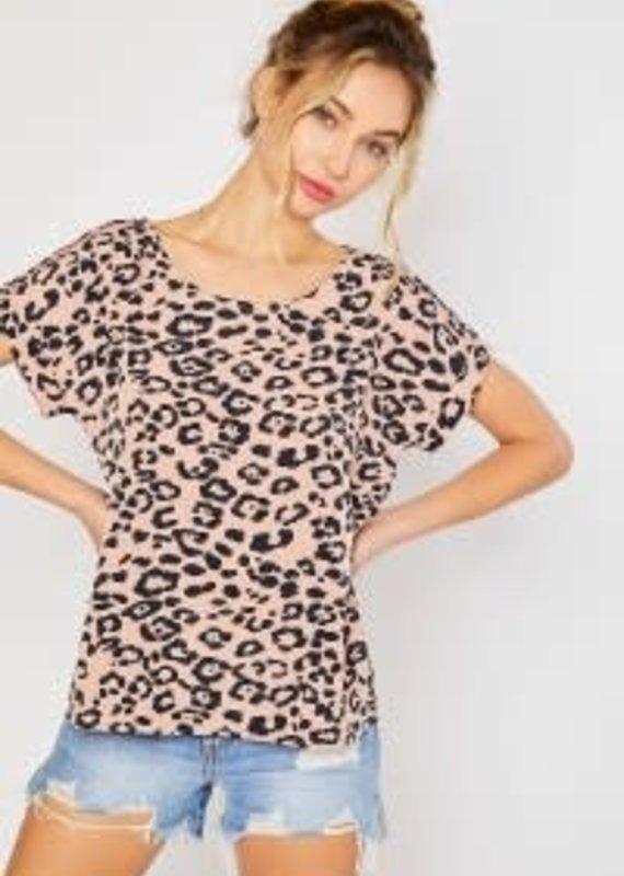 Mittoshop Pastel Leopard Dolman Top