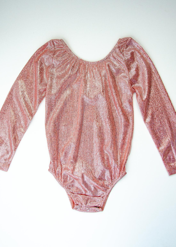 Bailey's Blossoms Livee Long Sleeve Leotard-Time To Shine Rose