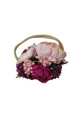 Bailey's Blossoms Floral Stretch Headband-Mauve & Fushsia