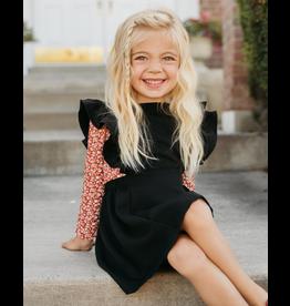 Bailey's Blossoms Victoria Ruffle Back Suspender Dress-Black