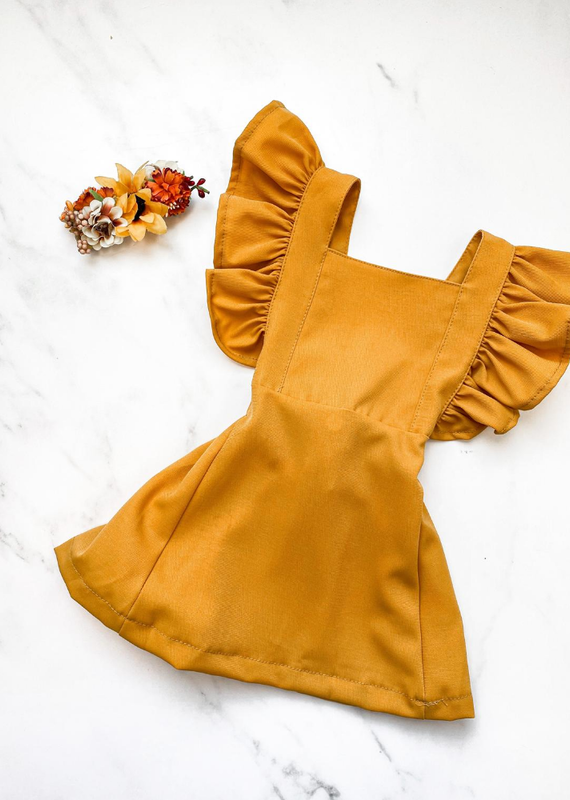 Bailey's Blossoms Victoria Ruffle Back Suspender Dress