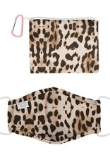 Stephen Joseph Adjustable Mask w/ Zipper Pouch-Leopard