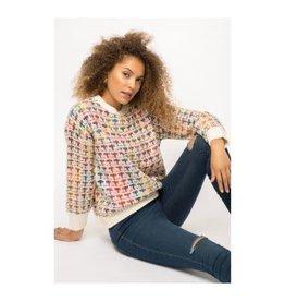 Mystree Inc. Multi Color Sparkle Sweater