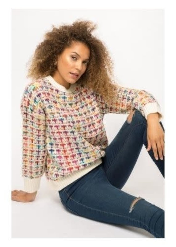 Mystree Inc. Multi Color Sparkle Sweater