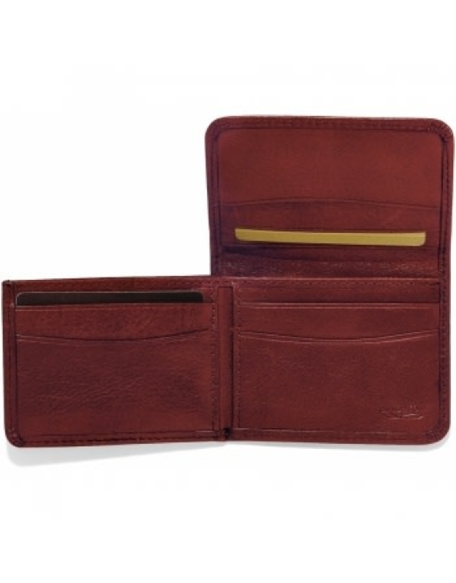 Brighton Carnegie Flip Wallet-Brown
