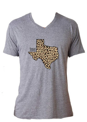 Jane Marie Texas Leopard State Tee