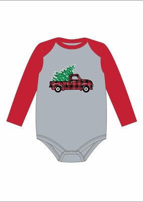 Jane Marie Christmas Truck Long Sleeve Onesie