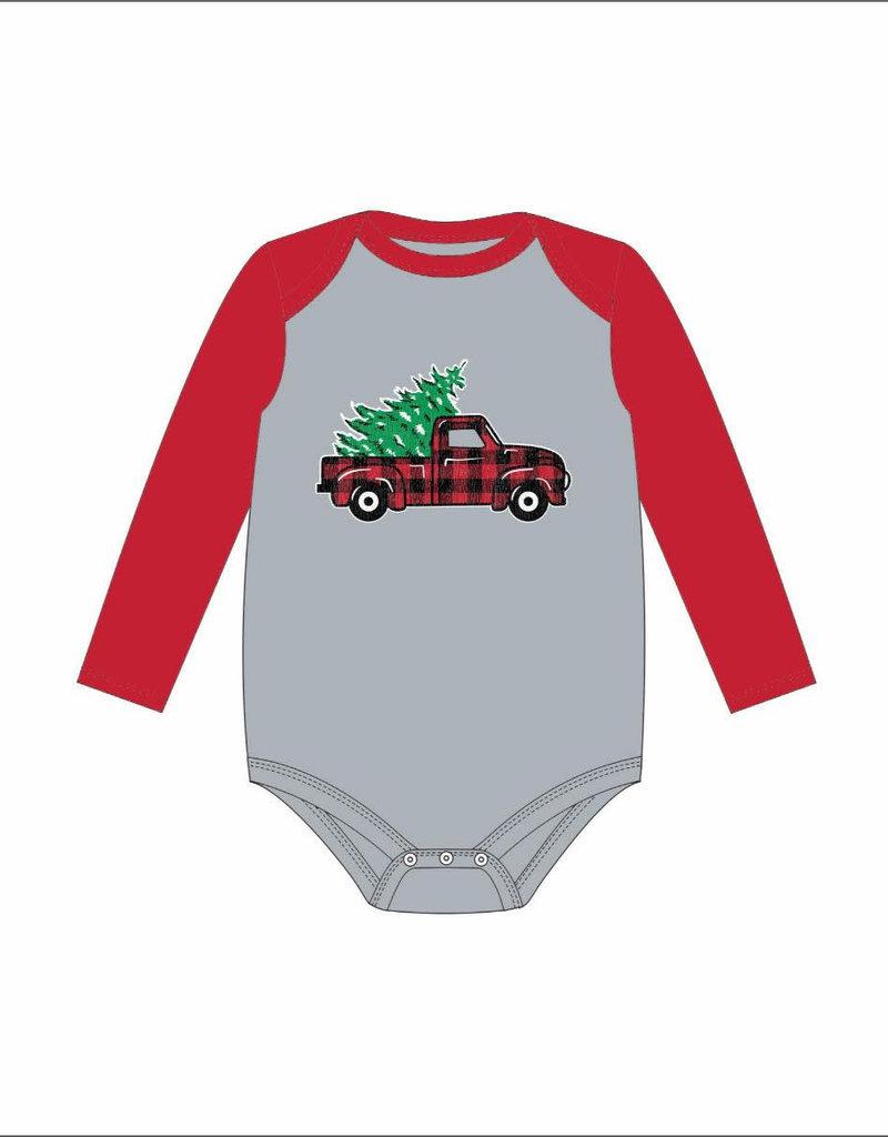 Jane Marie Christmas Truck Long Sleeve Onesie