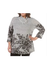 Jerell Clothing Company Cowl Collar Floral Top