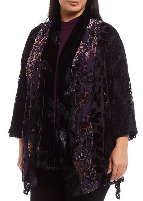 Multiples Floral Shawl Collar Cardigan
