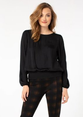 Liver Pool Puff Sleeve Top with Waistband