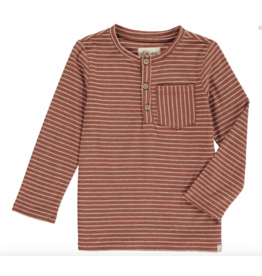 Me & Henry Brown Stripe Henley Tee