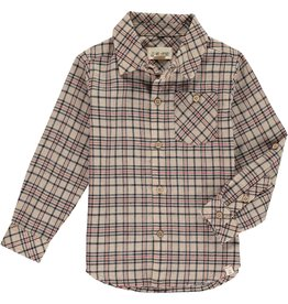 Me & Henry Beige Plaid Shirt
