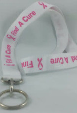 The Burlap Sack Breast Cancer Awareness Lanyard