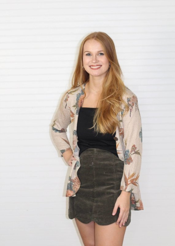Multiples Floral Cardigan with Button