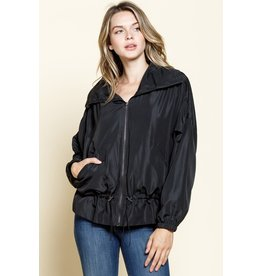 Mittoshop Black Windbreaker Jacket