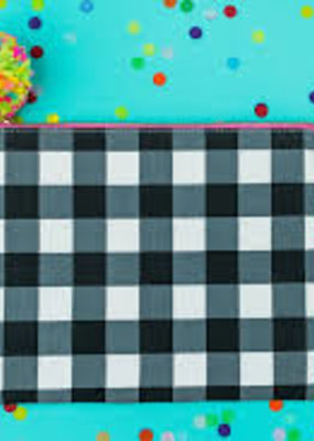 Taylor Elliot Designs Black Gingham Pouch