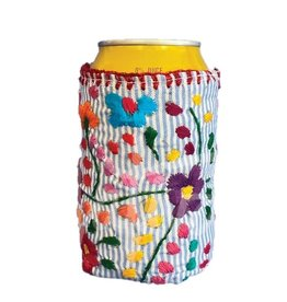 Nativa Pinstripe Embroidered Koozie