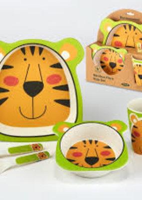Certified International Corp. Tiger Bamboo Fiber 5pc Kids Dinnerware Set