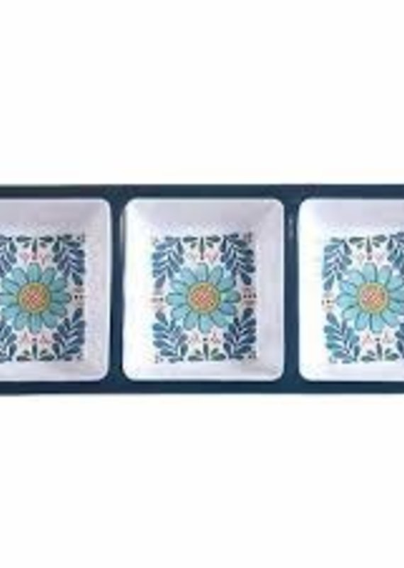 Certified International Corp. Talavera 3-Sec Relish Tray
