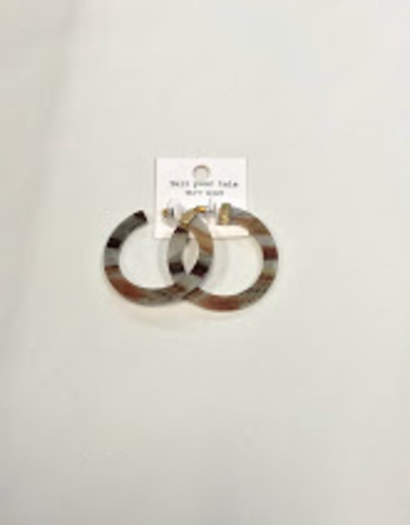 Kenze Penne Brown/Grey Hoops
