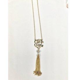Occassionally Made Monogram Tassel Necklace- E