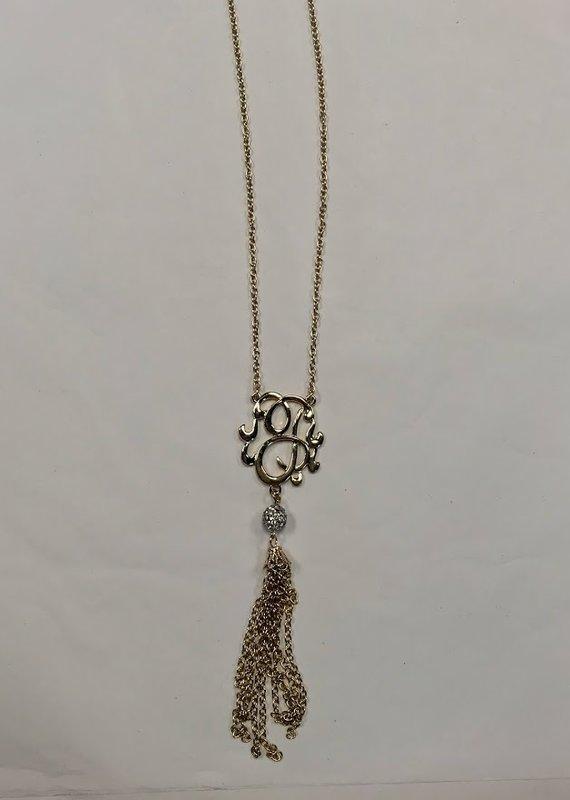 Occassionally Made Monogram Tassel Necklace- J
