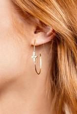 Natalie Wood Designs Believer Cross Hoop Earrings
