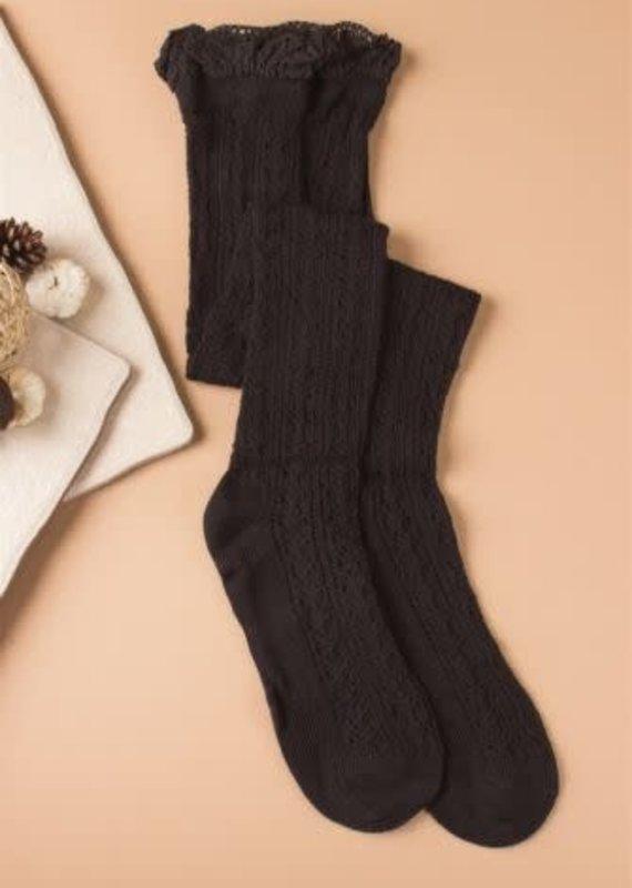 Simply Noelle Noelle Vintage Lace Tall Socks