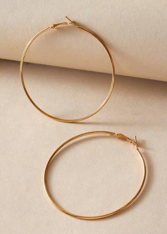 Shein Metallic Gold Hoop Earrings
