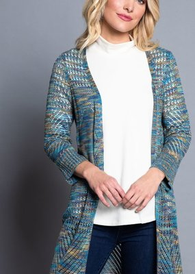 Jerell Clothing Company Multiples Brand  Open Front Multi Color Cardigan