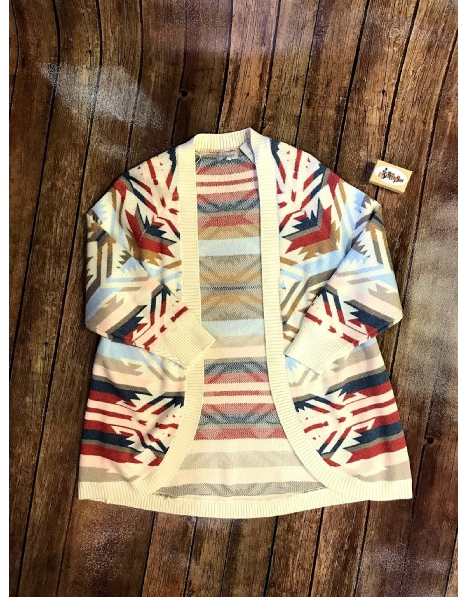 Jerell Clothing Company Cuffed 3/4 Raglan Slv Cardigan
