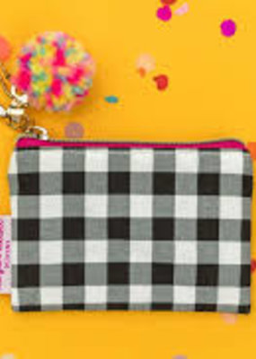 Taylor Elliot Designs Mini Black Gingham Card Holder Keychain